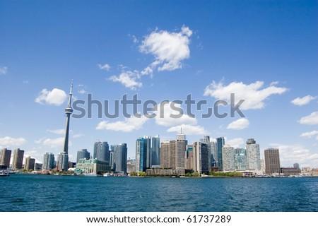 harbour toronto tower cn urban landscape - stock photo