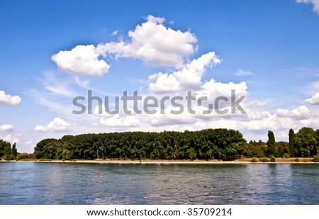 Harbour view in Worms - stock photo