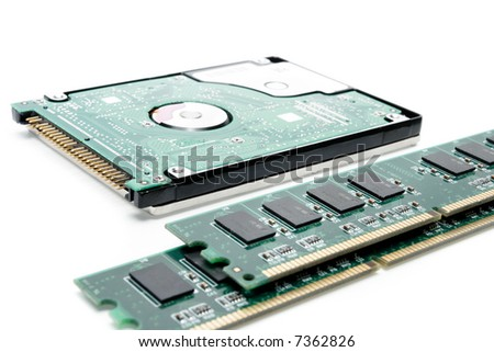 Hard Disc end computer ram memory card