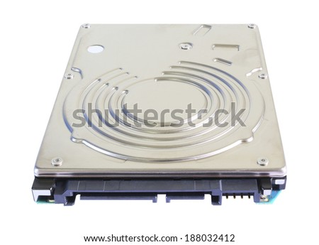 Hard disk drive isolated on white background. - stock photo