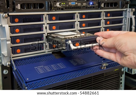 Hard Disk Drive Replacement - stock photo