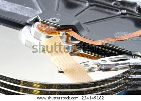 hard disk failure with a band-aid over your disks