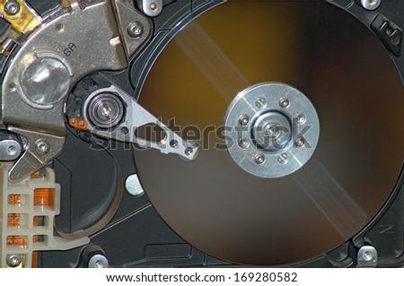 Hard drive background - stock photo