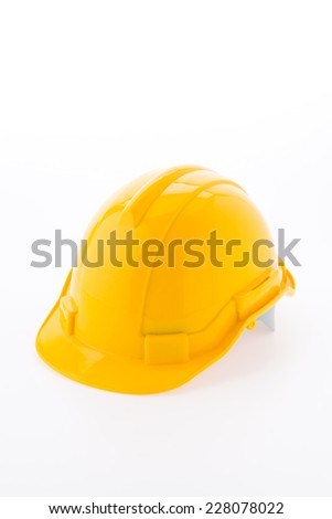 Hard hat isolated on white background