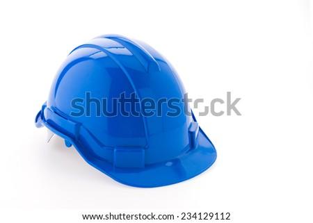 Hard hat isolated on white background - stock photo