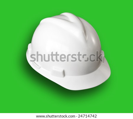 Hard Hat with clipping path - stock photo