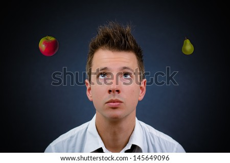 hard to choose and pick one - stock photo