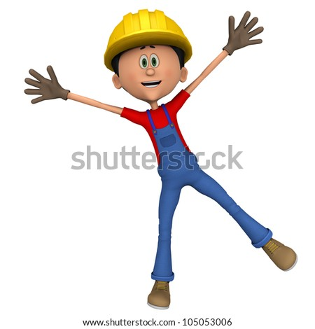 hard worker hello I am here - stock photo