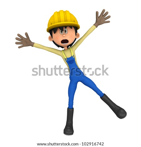 hard worker hey stop there - stock photo