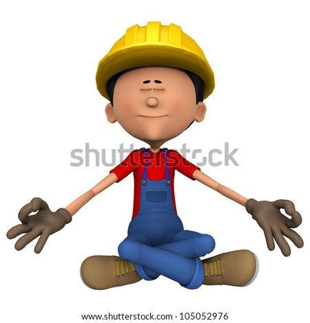 hard worker relaxing before work - stock photo