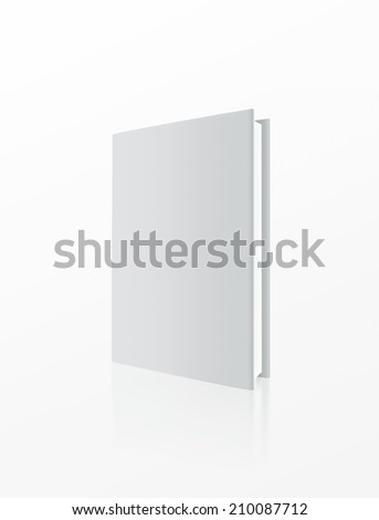 Hardback book cover template isolated on white background - stock photo