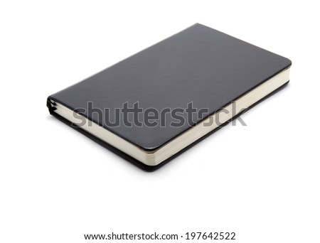 Hardcover book isolated on white - stock photo