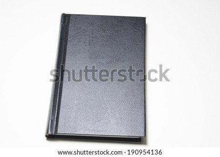 hardcover book isolated on white background