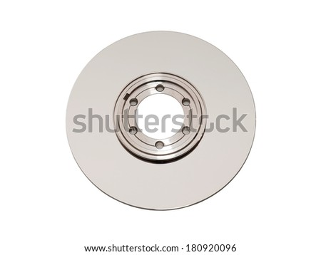Harddisk platter - rapidly rotating disk wich stores data - stock photo