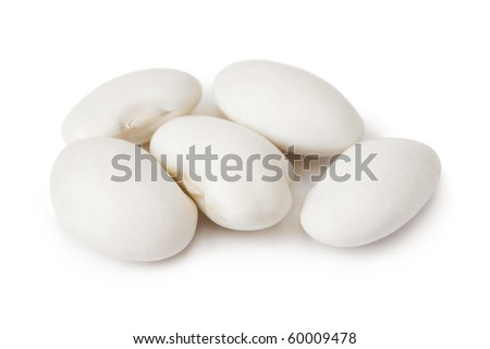 Haricot beans isolated on white background - stock photo