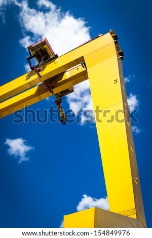 Harland and Wolff Crane - stock photo