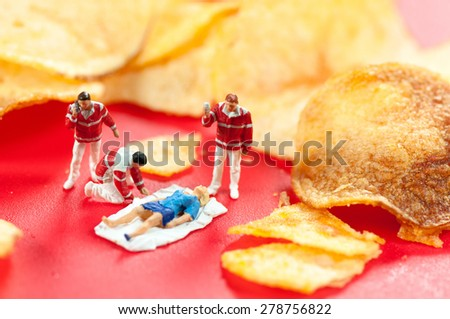 Harmful/ junk food concept. Macro photo - stock photo