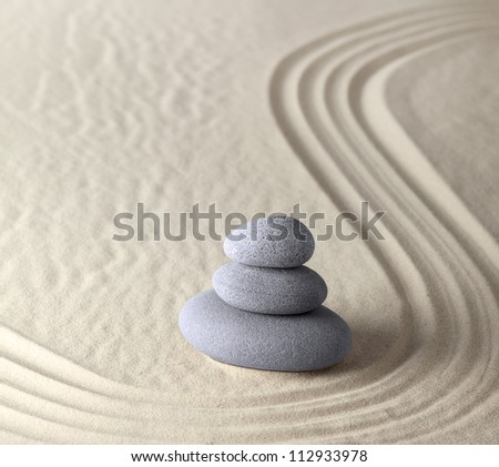 harmony and balance in zen garden where sand and stones concentrate energy for meditation and relaxation spiritual and spa wellness background peaceful serene scene