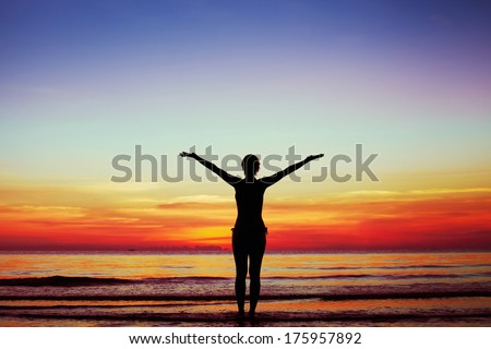 harmony of body and soul - stock photo