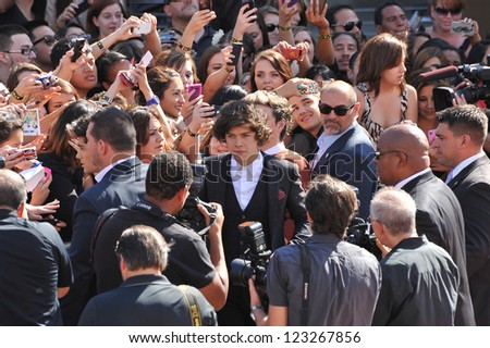Harry Styles of One Direction at the 2012 MTV Video Music Awards at Staples Center, Los Angeles. September 6, 2012  Los Angeles, CA Picture: Paul Smith - stock photo