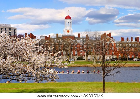 Harvard in the spring - stock photo