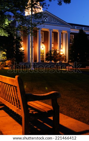 Harvard School of Business at Night - stock photo