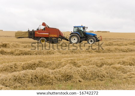 Harvest time in Wiltshire, England.
