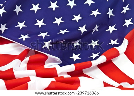 Harvested waves flag of the United States of America - stock photo