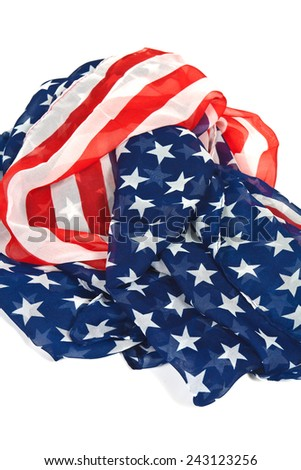 Harvested waves flag of the United States of America
