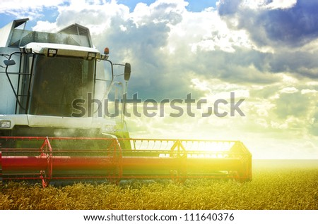 Harvester - stock photo