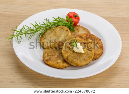 Hash brown with cream and herbs