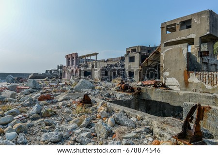 Hashima Island (Gunkanjima / Battleship Island) 2013 - wide view watch tower