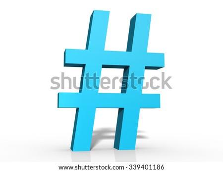 Hashtag - stock photo