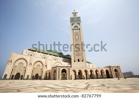 Hassan II Mosque, Casablanca - stock photo