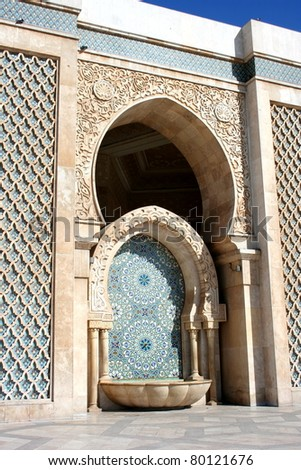 Hassan II Mosque, Casablanca, Morocco, Africa - stock photo