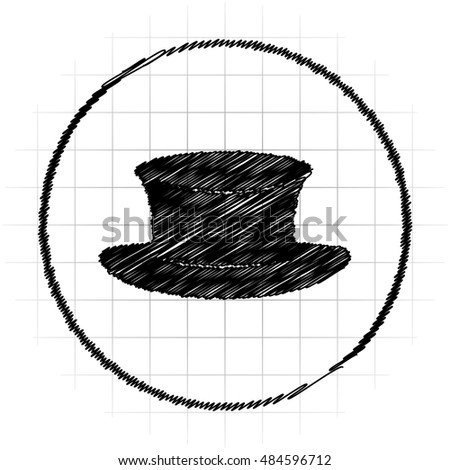 Hat icon. Internet button on white background.