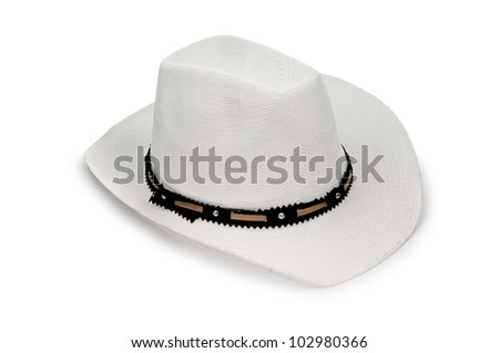 Hat isolated on the white background - stock photo