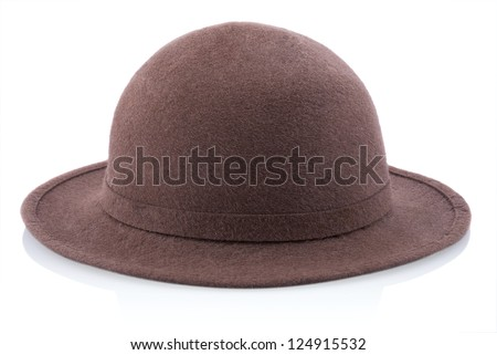 Hat. Isolated on white. - stock photo