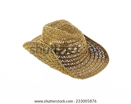 hat isolated on white background, cowboy hat