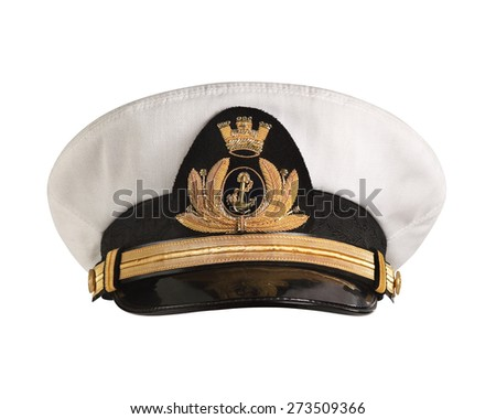 how to draw a captain cap front view