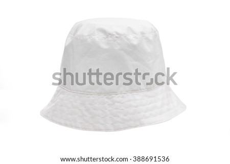 hat on the white background - stock photo