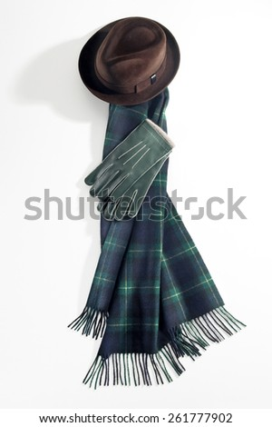 Hat, Scarf & Gloves - stock photo