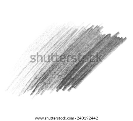 hatching grunge graphite pencil texture isolated on white background - stock photo