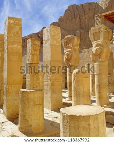 Hatsepsut temple, Egypt, UNESCO World Heritage Site - stock photo