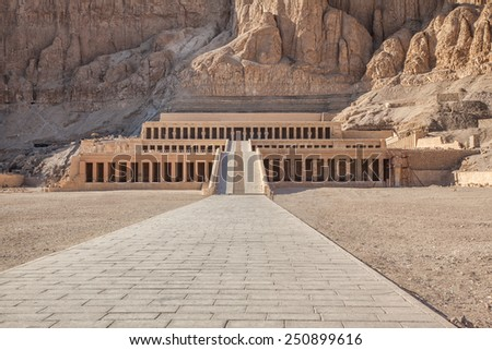 Hatshepsut temple at west bank of Luxor, Egpyt - stock photo