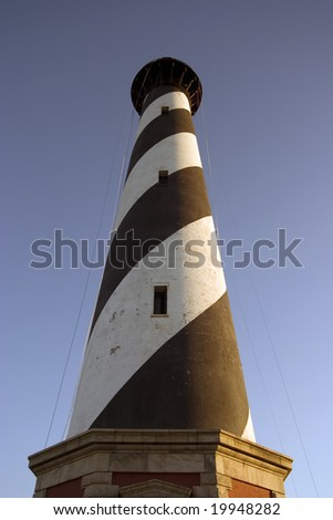 Hatteras Lighthouse from below - stock photo