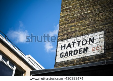Hatton Garden - stock photo