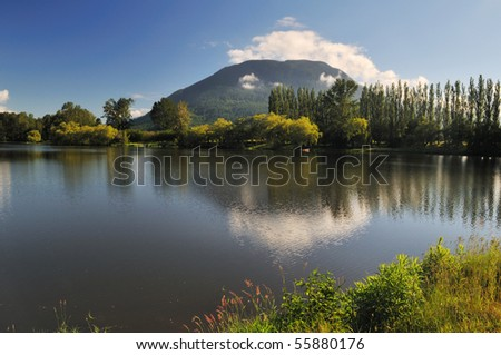 Hatzic Lake in Mission, British Columbia, Canada - stock photo
