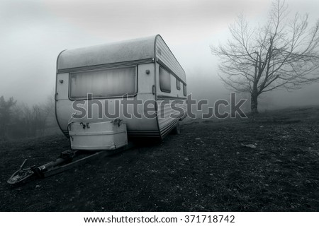 Haunted Camper Van - stock photo