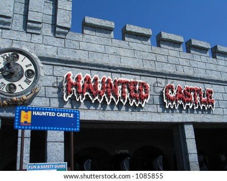 Haunted Castle Ride - stock photo